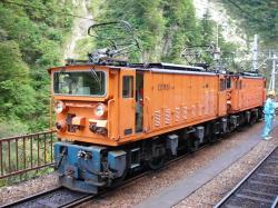 黒部峡谷鉄道の電気機関車