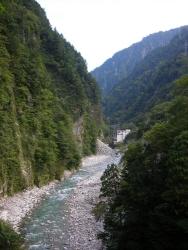 峡谷の景観