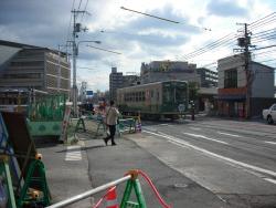 太秦天神川駅前のようす