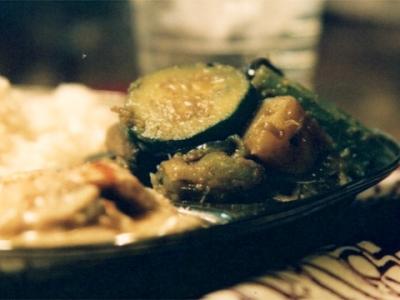 夏野菜のサブジ(蒸し炒め煮)