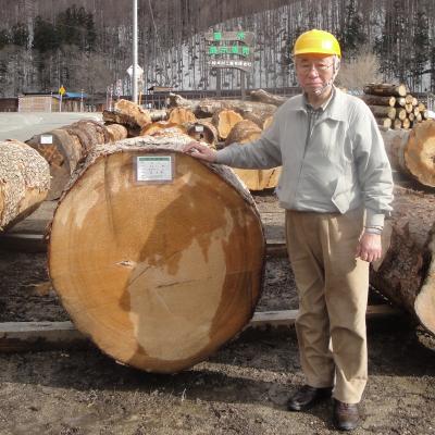 社長と材木
