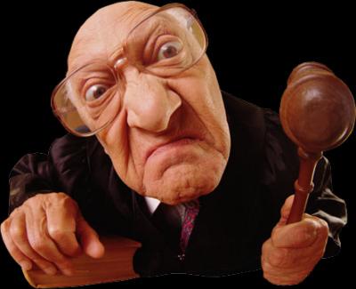 職業ジョーク裁判所判事の場合