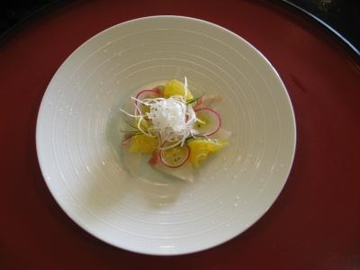 酢の物 鯛と夏みかんのカルパッチョ