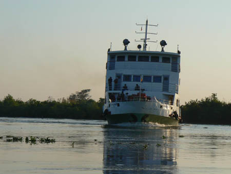 ヤンゴン〜ミャウンミャ〜パティンをつなぐ船