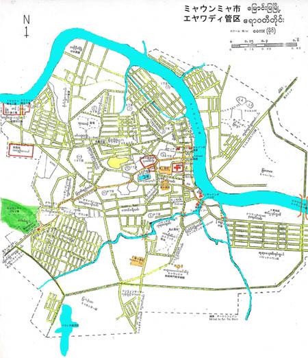 ミャウンミャ市街地(Myaungmya Down town)