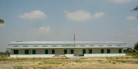 新校舎の正面から見える風景