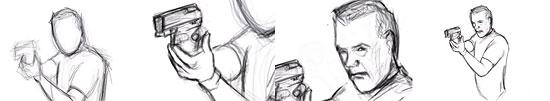 【2DCG】 『24』ジャック・バウアーのスピード ペインティング
