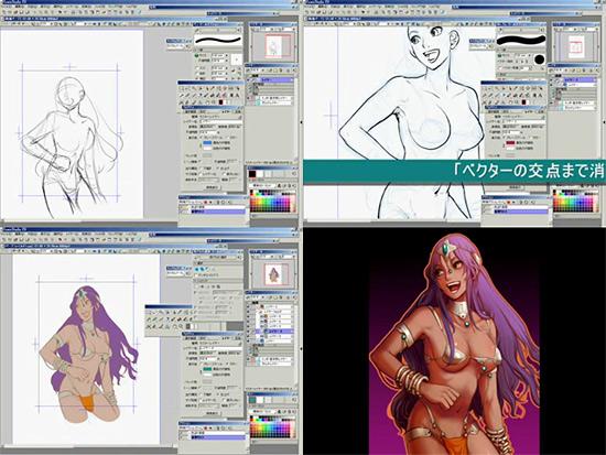 【2DCG】 ドラクエ4ファンアート セクシーなマーニャ姉さんを描き上げる動画