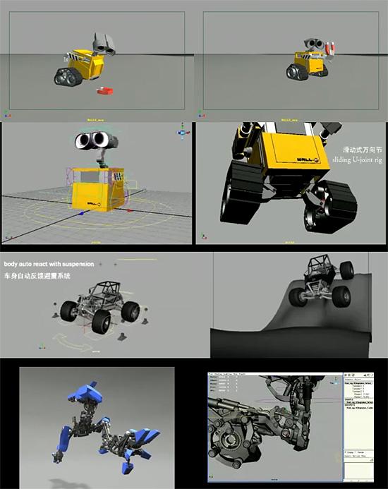 【3DCG】 WALL-Eのリグに挑戦した人『manitou』 他の作品のリグもスンゲェんですけど