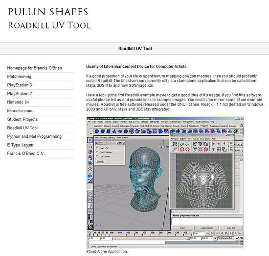 【3DCG】 UV展開作業克服なるかpart2。フリーのUV展開ツール『Roadkill UV Tool』