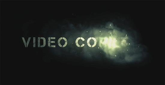 【2DCG】 AfterEffectチュートリアル 煙と共にタイトルが浮かび上がるアニメーション