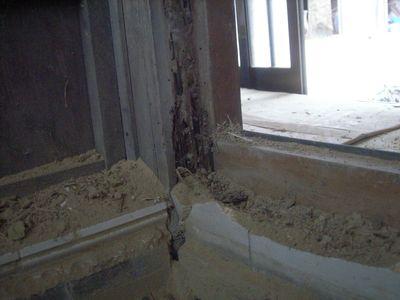こちらの重要な柱も白蟻にやられてます