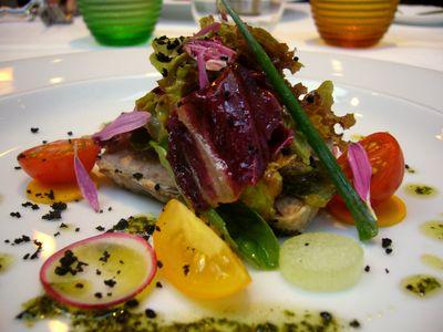 色彩鮮やかなフランス料理