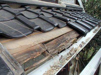 屋根下地腐ってます