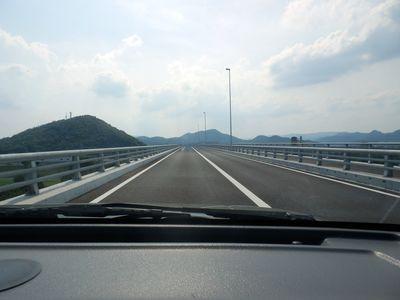 先が見えない総社の新しい橋