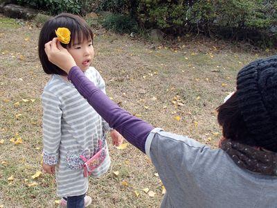 銀杏のお花かんざし