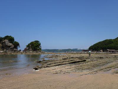 白浜の海岸