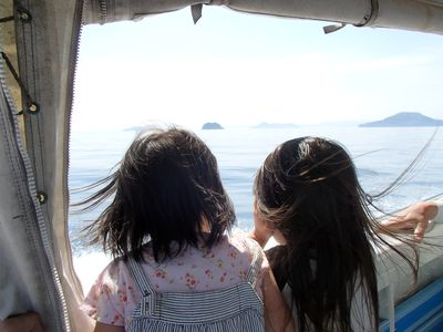 海上タクシーで帰路に着く