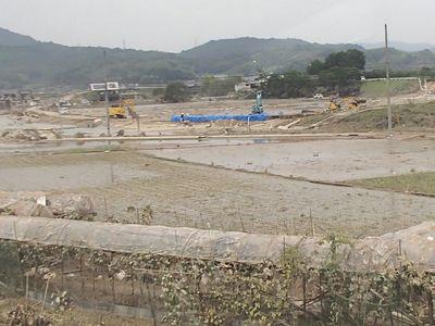 宮田橋南側決壊場所