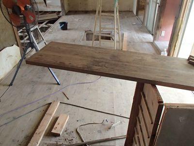 カウンター撤去と床板