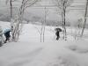 雪国の登校風景1