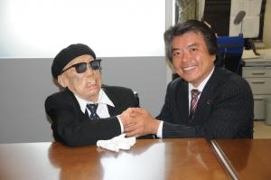 ハンセン病療養所決議傍聴の谺さんと懇談=2010.05.21、国会内