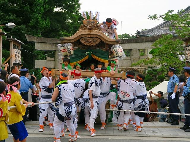 茨木神社だんじり上げ