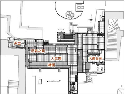 熊本城の「本丸御殿大広間」の復元作業1