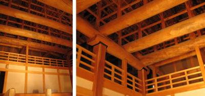 熊本城の「本丸御殿大広間」の復元作業5