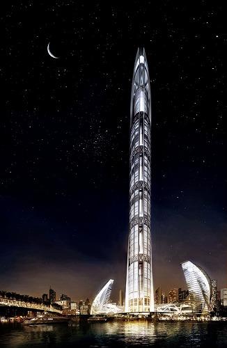 ドバイで1000mタワーの建設計画