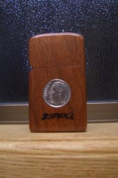 木製のジッポーライター