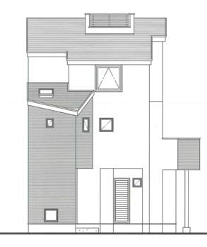 「ルーフバルコニーのある家」