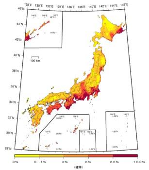 震度6弱の発生確率が大幅増、政府の見直しで