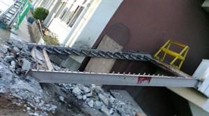 鳩ケ谷市立南小学校の耐震補強工事開始
