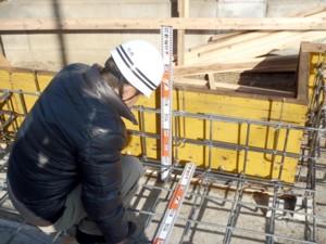 基礎工事の検査
