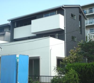 「大いなる家」の南側外観にリビング内観