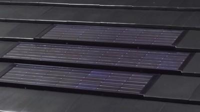 太陽光発電対応のシンプルモダンな瓦