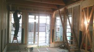 新事務所の建設中