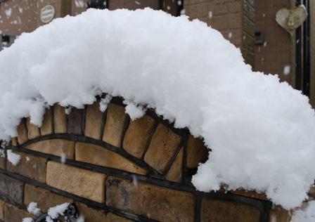 積雪13cm