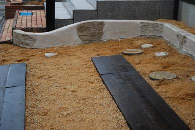 モルタル造形花壇