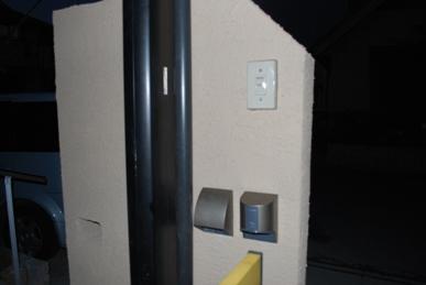 門柱200ボルト電源