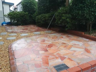 乱形石の庭完成