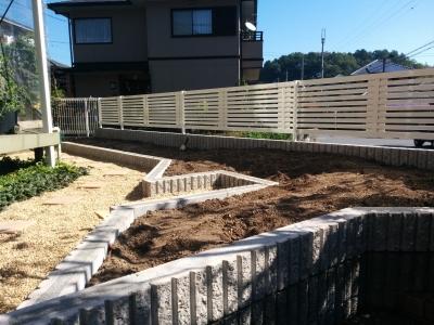 生垣からフェンスにリフォーム1