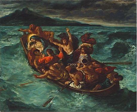 ウジェーヌ・ドラクロワ《嵐の最中に眠るキリスト》