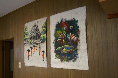 ルアンパバーンで買ったアート