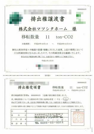 排出権譲渡書