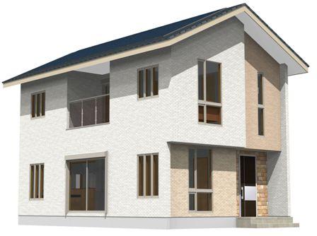 03太陽光発電パネル搭載「4面の顔を持つ家」-カラーパース