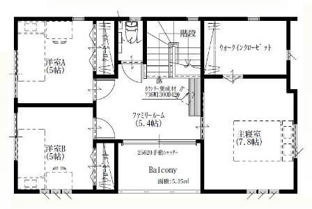 03太陽光発電パネル搭載「4面の顔を持つ家」-2F平面図