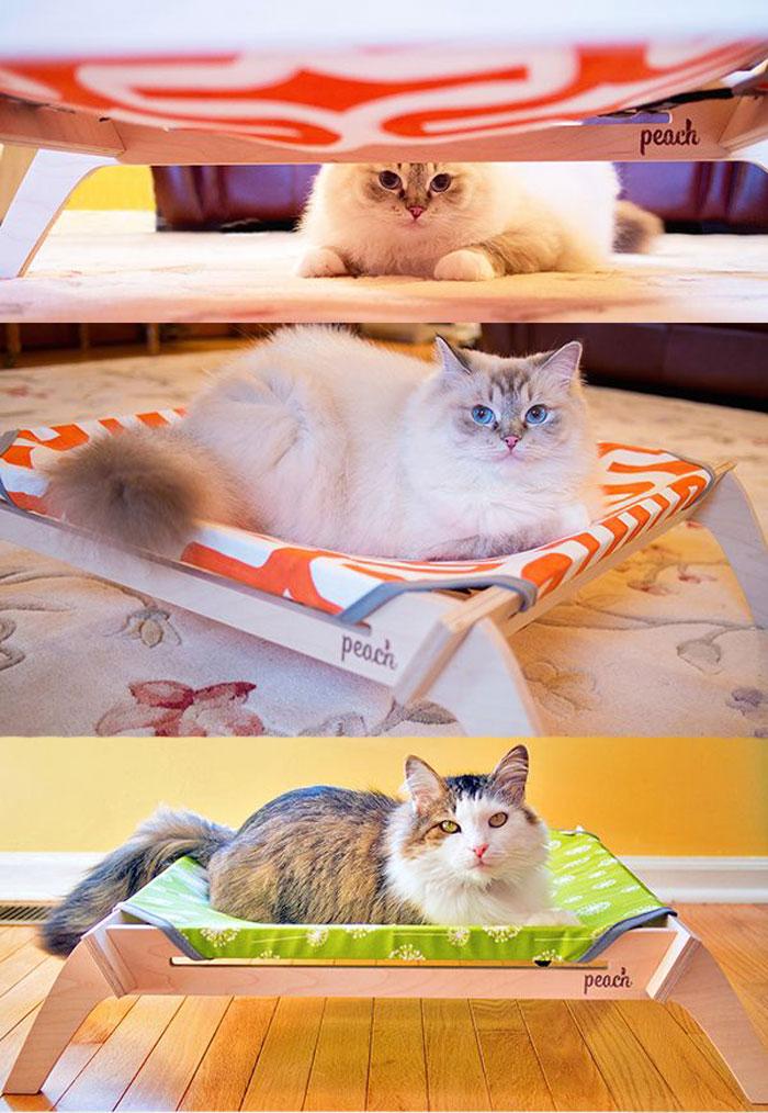 猫ハンモック ピーチペットラウンジャー