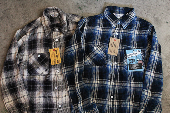 Five Brother Heavy Flanner Work Shirts Mr